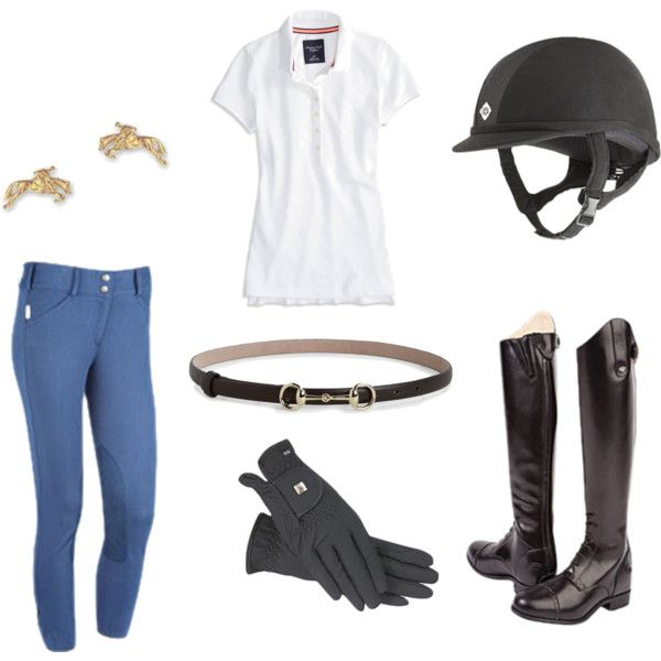 """Simple Schooling Outfit"" by equestrian-dreamer on Polyvore"