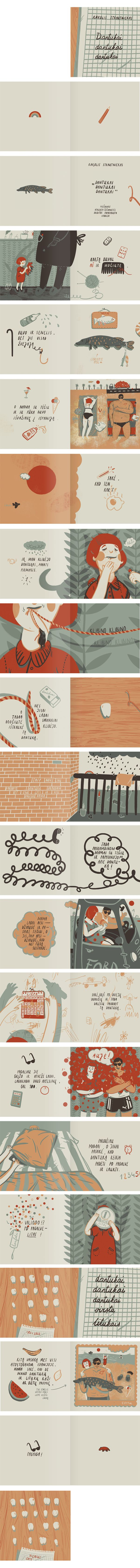 Something about the illustration style here with handmade type. A picture book by Karolis Strautniekas, via Behance