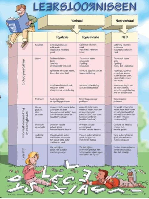 Schema dyslexie en dyscalculie