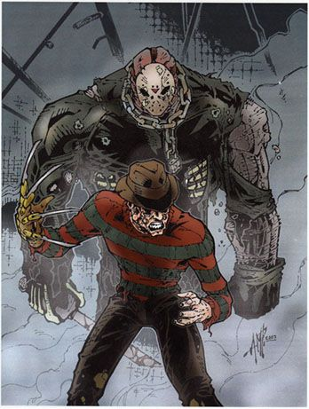Freddy VS Jason by ~AMP01 http://comicbook.space/?s=walking+dead&disc_val=5