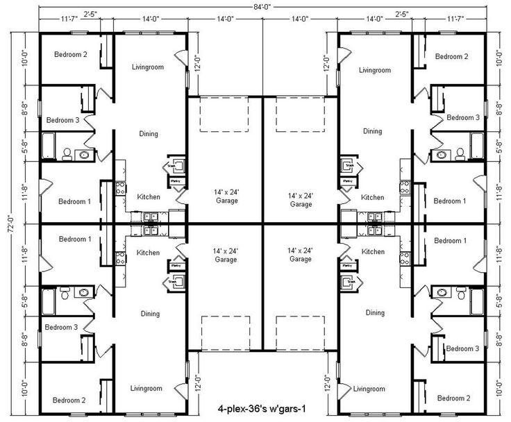 4 plex house plans canada house plan 2017 for Duplex plans canada