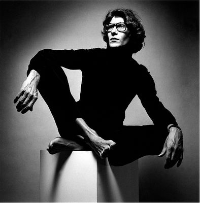 Yves Saint Laurent - responsible for so much beauty and style. (Portrait by Jeanloup Sieff, 1972).