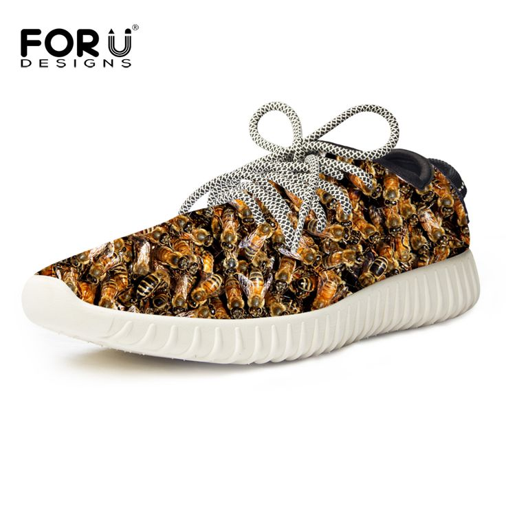 ==> [Free Shipping] Buy Best FORUDESIGNS Spring Summer Men Casual Flats Shoes Funny Animal Bee Pattern Mesh Shoes Male Breathable Shoes Zapatos Hombre 2017 Online with LOWEST Price | 32737969982
