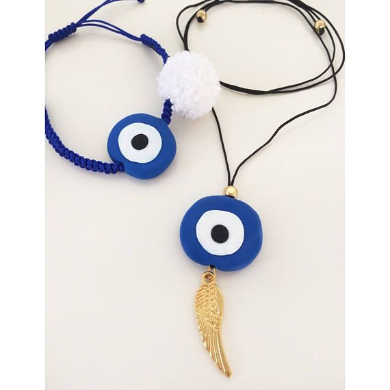 evil eye jewelry greek jewelry blue evil eye polymer clay