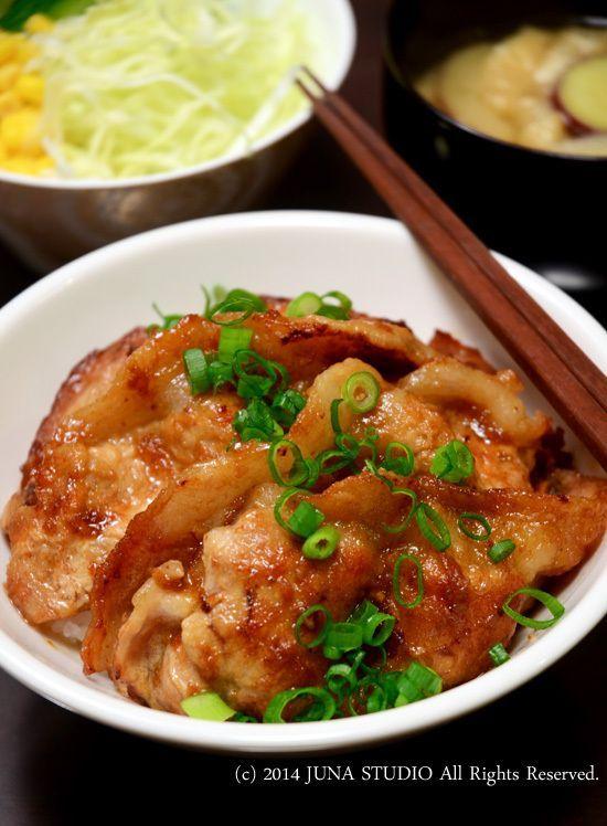 Ginger Pork Rice Bowl 生姜焼き丼