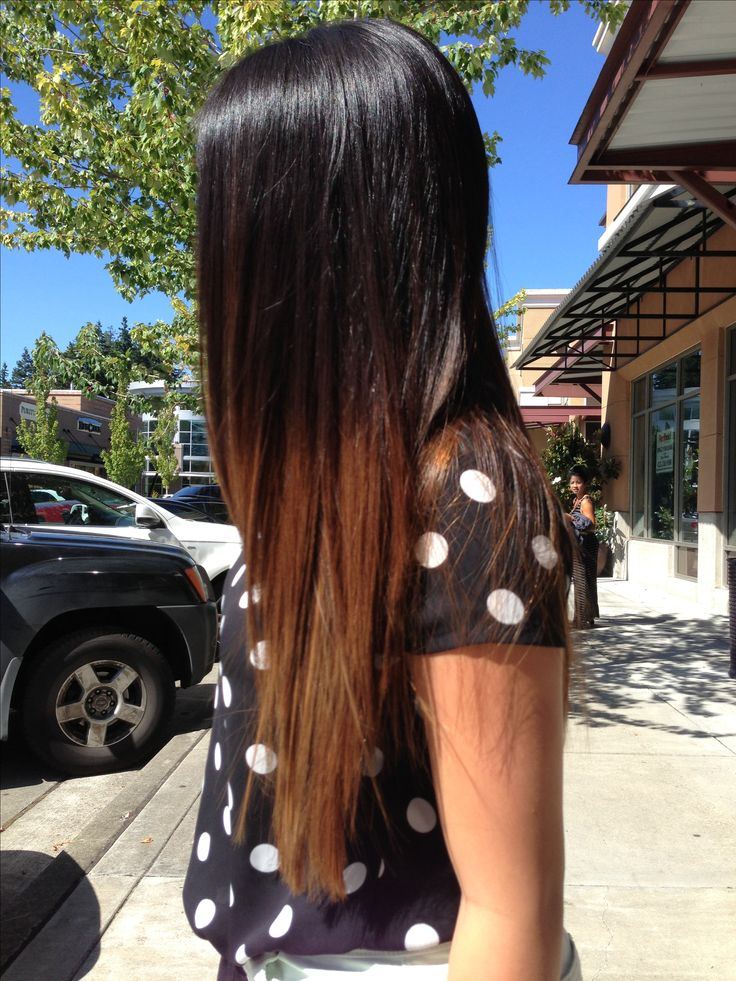 Just got my ombre done #ombre #hair #dark Free shipping human hair extensions,if you like,you can try 。Click to my store