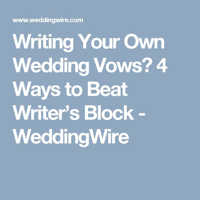 how to write your own wedding vows samples