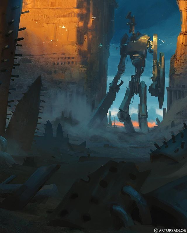 Encounter . Follow me for more Mooeti works Visit link in my bio to learn more about Mooeti . #Mooeti #Mooetithrowback . . . . . #artstation #conceptart #illustration #storytelling #digitalpainting #ilovefantasyart #fantasyart #scifi #empireoffuture #artistsoninstagram #giant #robot #mecha
