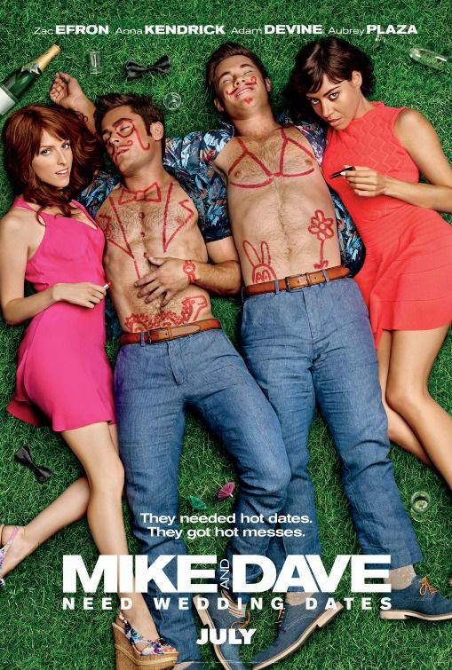 Mike and Dave Need Wedding Dates (2016) directed by: Jake Szymanski starring: Zac Efron, Adam DeVine, Anna Kendrick, Aubrey Plaza