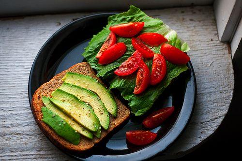 Sandwich avocat salade