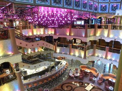 Carnival Liberty lobby. my very first ship :)