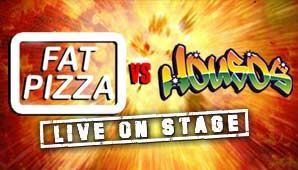 It's the ultimate clash of the TV comedy titans! Bigger than Ben Hur and better than finding 20 bucks in your jeans at the end of dole week! Fat Pizza vs. Housos live on stage at the 2015 Melbourne Comedy Festival