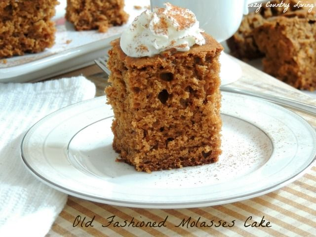 Old Fashioned Molasses Cake | Cozy Country Living #molasses #cake #simplecakes
