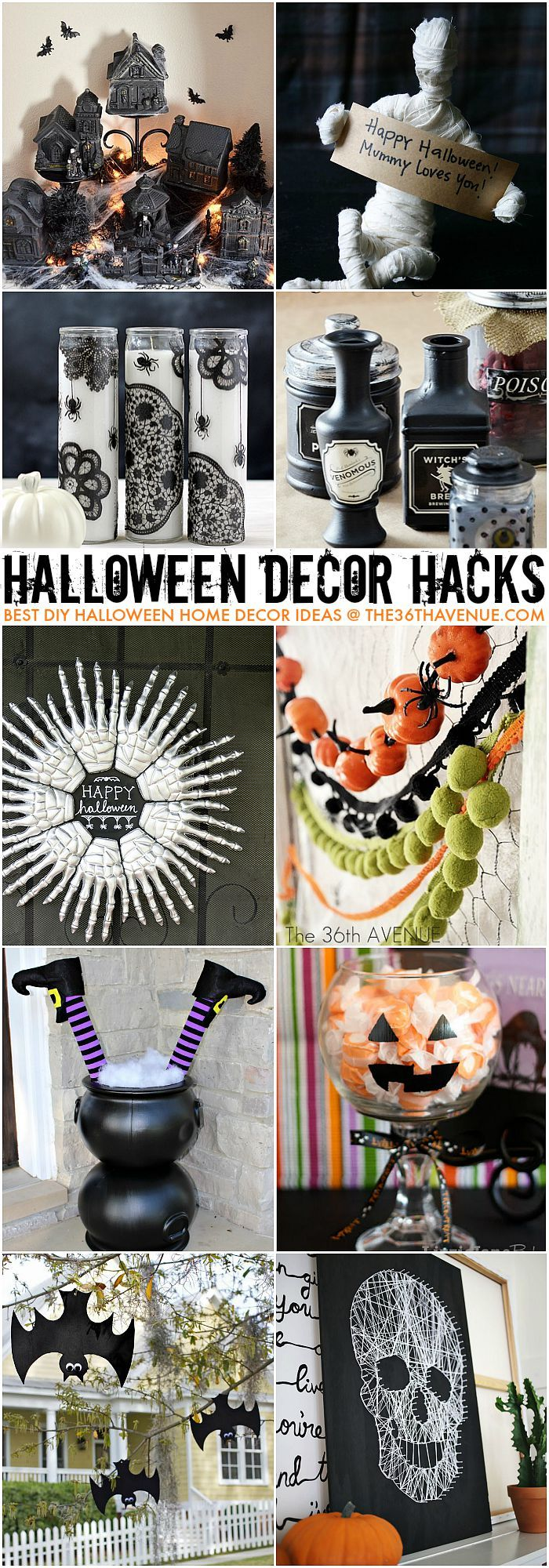 Halloween Decor Ideas and Hacks at the36thavenue.com: