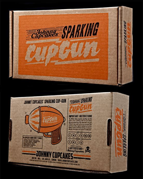 "Limited Edition Johnny Cupcakes ""Cupgun"" T-Shirt Packaging"