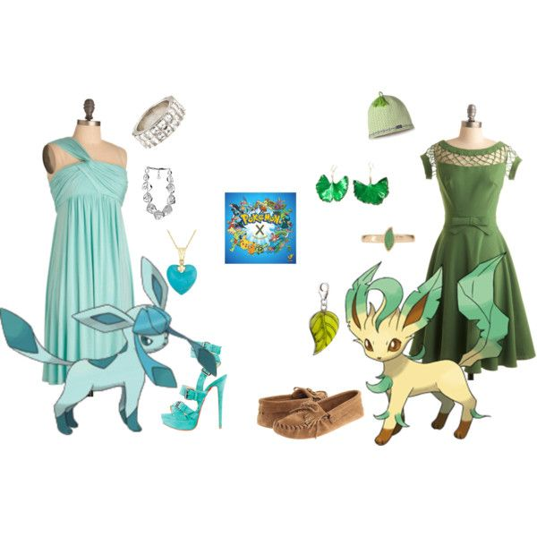 Glaceon & Leafeon - Pokemon Halloween Costumes by strawberry-gashes on Polyvore
