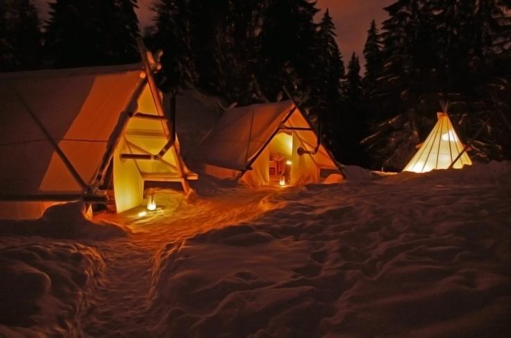Le camp Altipik sous la neige. #insolite #tipi #goodnight