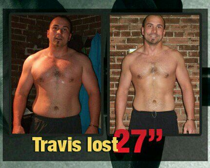 #SuccessSunday with our client, Travis! Losing 27 inches,  over 25lbs of fat and gaining lots of strength!