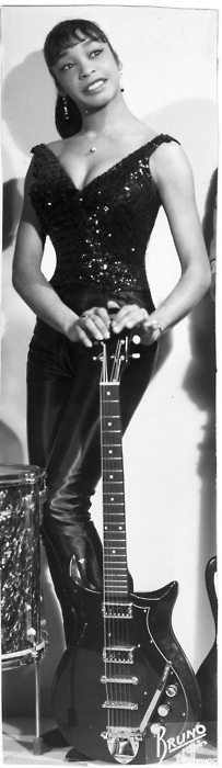 Peggy Lee Jones: Lady Bo. One of the first female lead guitarists in rock & roll, Peggy Jones is most notable for her work in Bo Diddley's backing band, for which she earned the affectionate — and appropriate — nickname Lady Bo. However, her musical resume is much longer, boasting stints as a doo wop singer and an R/soul bandleader. Born in New York, Jones began her career as a professional dancer,
