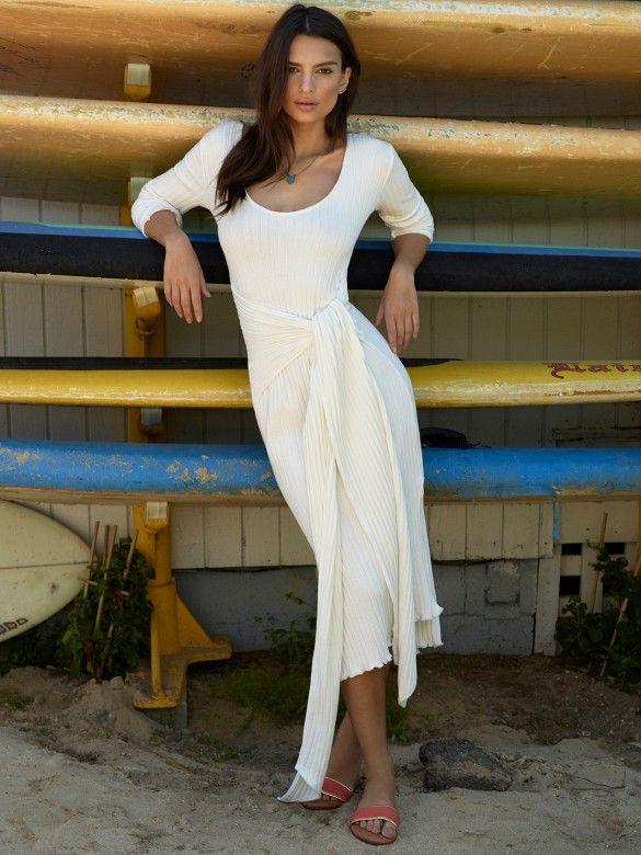 Long sleeve flattering dress