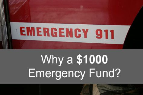 Why A Thousand Dollar Emergency Fund Emergency Fund Money Saving Tips Rainy Day Fund