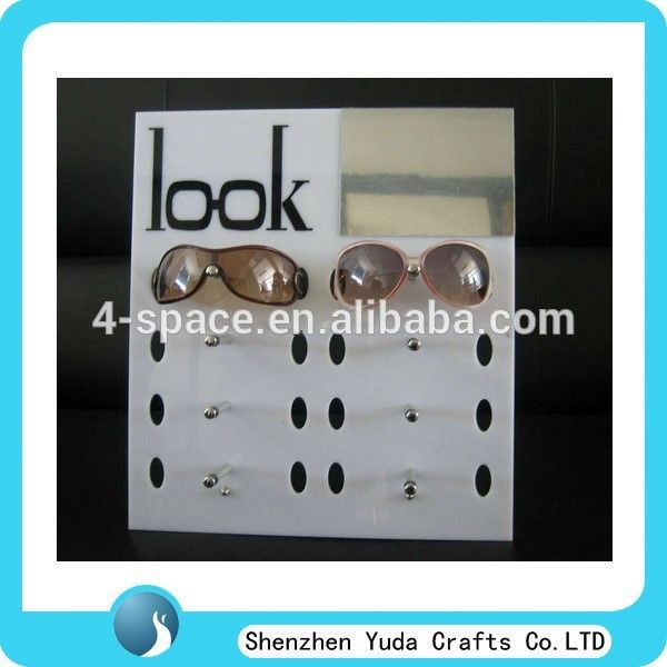 """Wall mounted 8 eyewear display holder rack, acrylic eyewear display stand for sale, customized plexiglass eyeglasses display"""