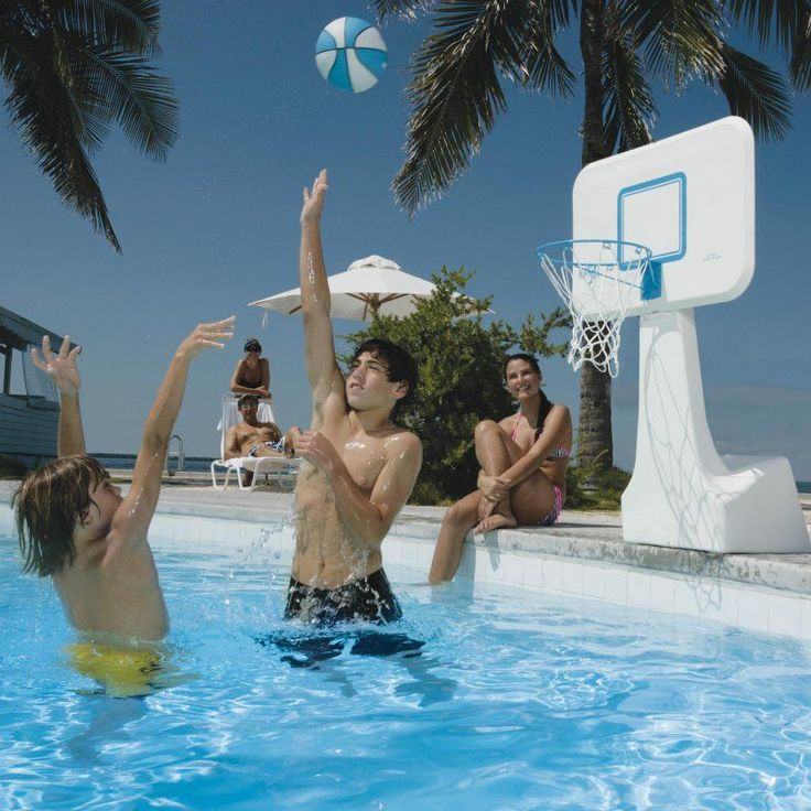 Basketball Hoop: PoolSport Portable Pool Basketball Hoop - B950 STAINLESS