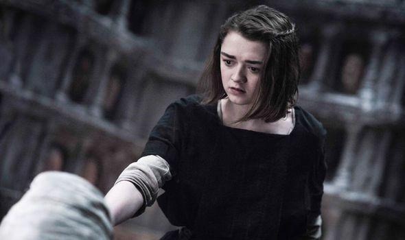 Maisie Williams as Arya Stark on Game of Thrones