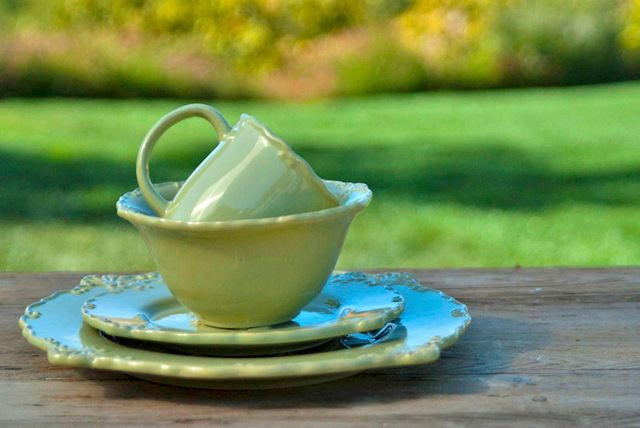Rooster Dinnerware Set, Green farmhouse-dinnerware-sets