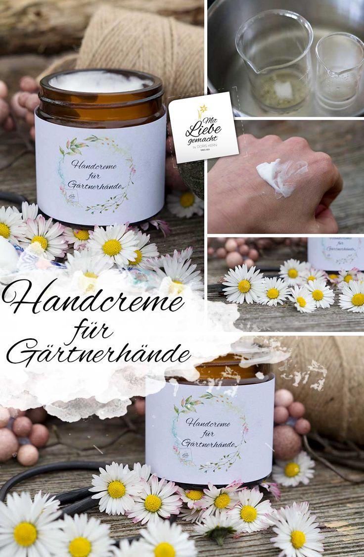 Pflegende Handcreme für beanspruchte Gärtnerhände – mit Gänseblümchenöl
