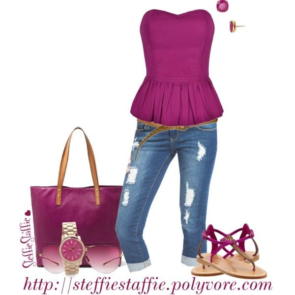 """Magenta"" by steffiestaffie on Polyvore"