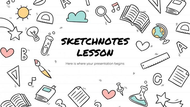 Sketchnotes Lesson Presentation Free Google Slides Theme