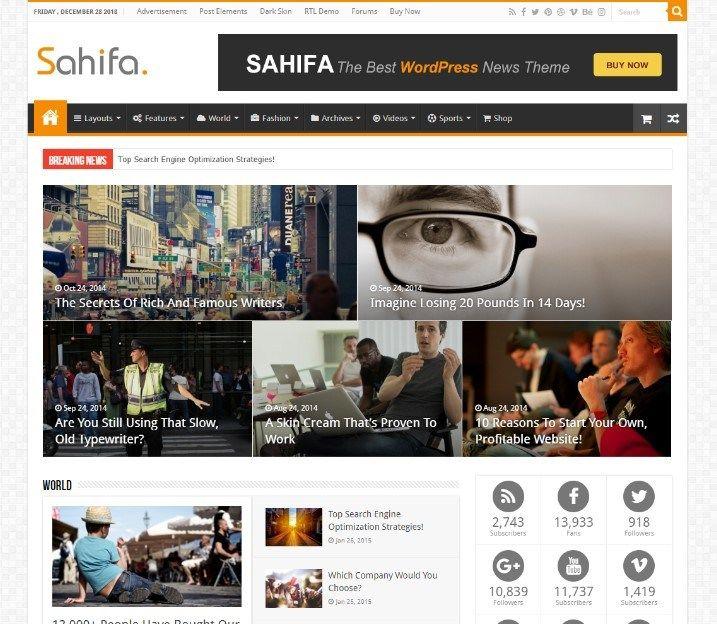Sahifa Responsive Wordpress News Magazine Blog Theme Magazine Theme Wordpress Magazine Blog Theme Blog Themes
