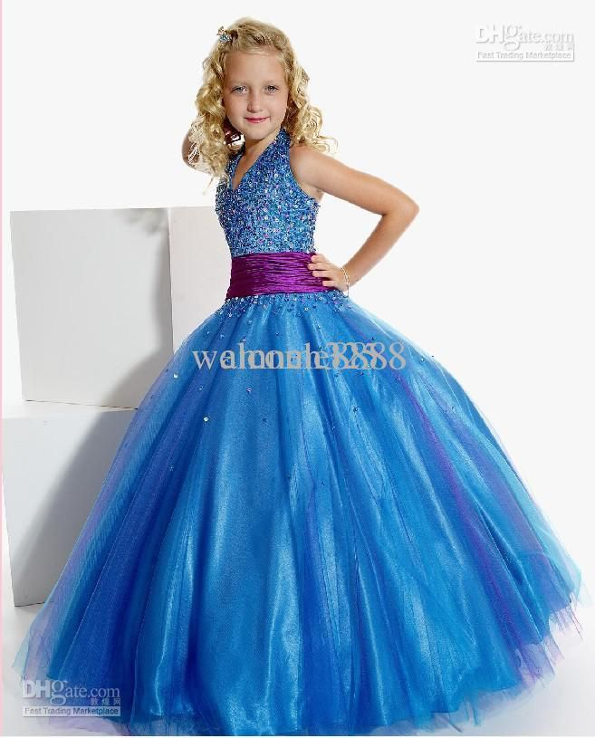 Wholesale Luxurious Ball gown V- neck floor length Pageant Dress for Girls by, Free shipping, $42.56-47.04/Piece | DHgate