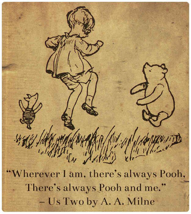 """""""Us Two"""" from Now We Are Six by A. A. Milne"""
