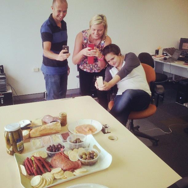 Office-cheese-platter triple-shot. Thanks tosamanthacube. #TriShakr #Moment #Trishaking #Foodie