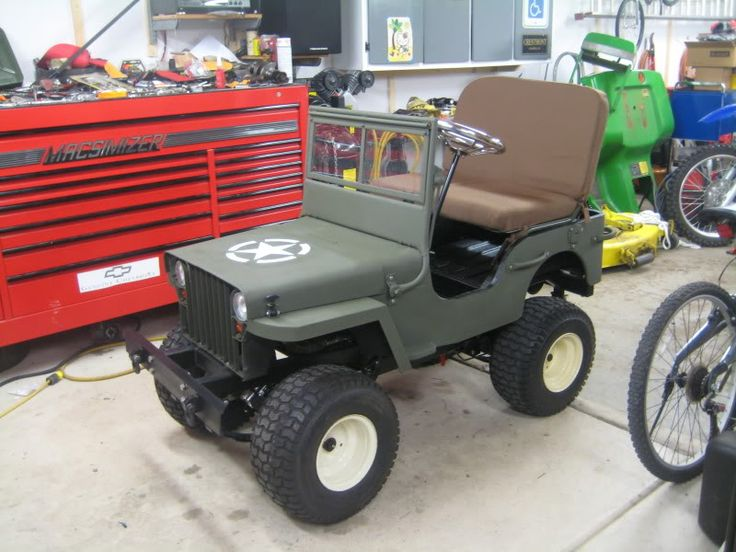 Build your own mini jeep woodworking projects plans for Golf cart plans