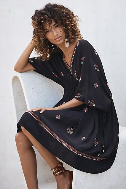 Comfy dress - would be cute with strappy sandals. Embroidered Zola Dress