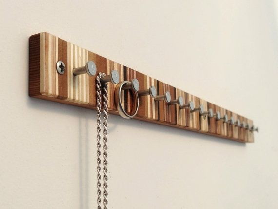Hey, I found this really awesome Etsy listing at https://www.etsy.com/listing/242359878/jewelry-rack-modern-wood-jewelry-rack