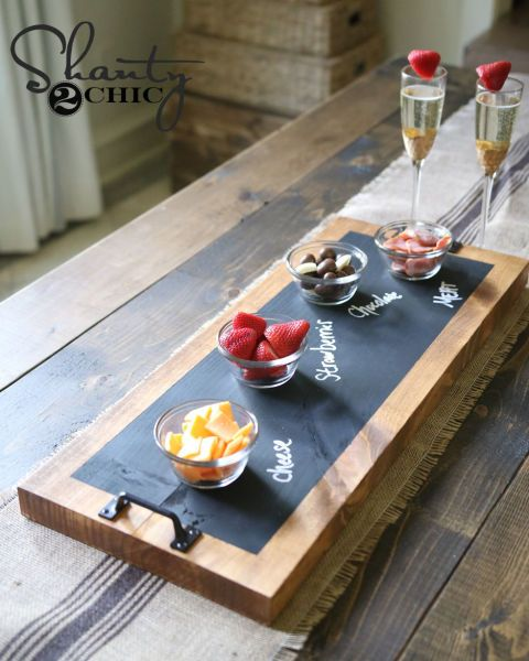 Let the ladies of Shanty2Chic walk you through a tutorial for this easy-to-make chalkboard serving tray, the perfect gift for a friend who is always entertaining.