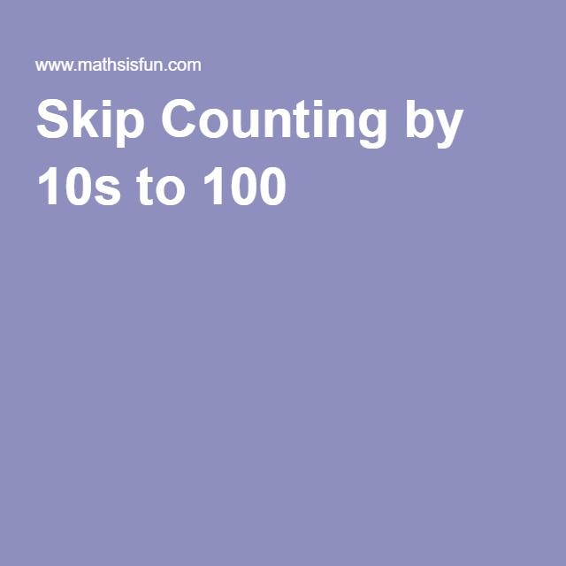 Skip Counting by 10s to 100