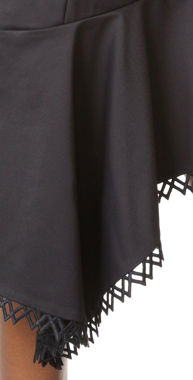 Jonathan Simkhai Zip Front Ruffle Dress | SHOPBOP