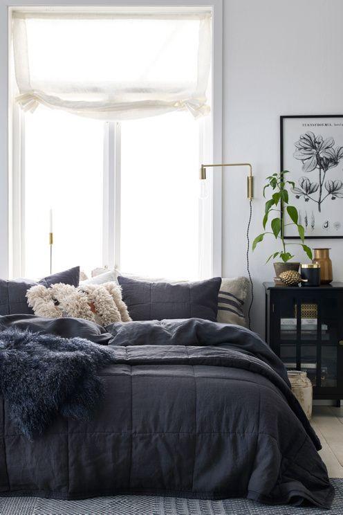 Ellos Home Överkast Candice Cube i tvättat lin 260x260 cm