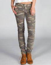 HIPPIE LAUNDRY Camo Womens Skinny Pants 217492533 | Pants | Tillys.com