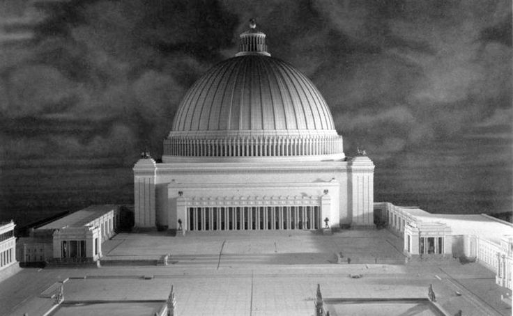 "Bundesarchiv Bild 146-1986-029-02, ""Germania"", Modell ""Große Halle"" - Architecture nazie — Wikipédia"