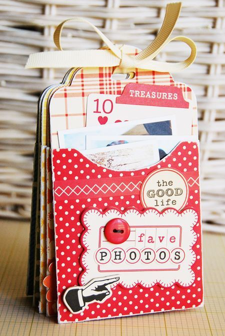 Cute mini: Pockets Tags, Minis Books, Gifts Cards, Minis Album, Cute Ideas, Mini Albums, Tags Minis, Minis Scrapbook, Photo