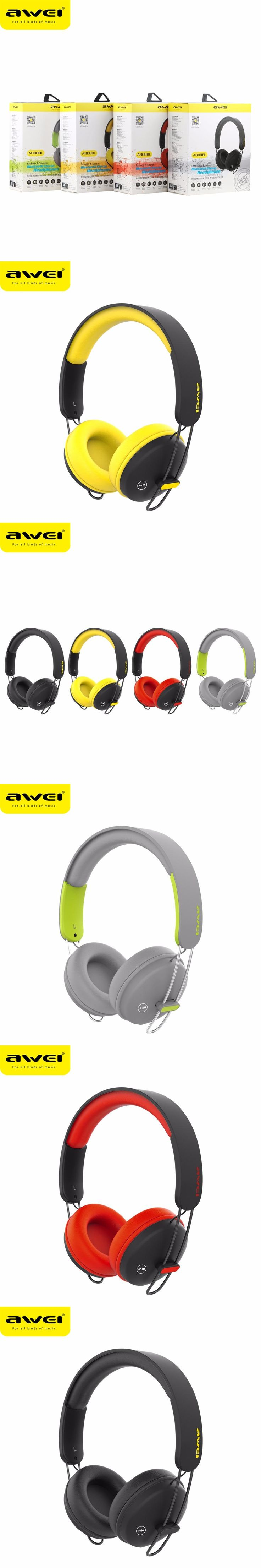 AWEI A800BL Bluetooth Headset Wireless + Wired Headphones With Touch Button PU Earmuffs Stereo Bests Sound Headband