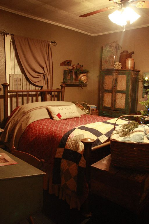 Primitive country bedrooms