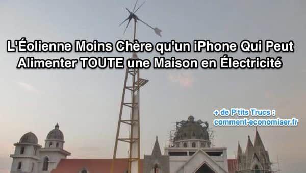 Saviez-vous que pour le prix d'un iPhone, il est désormais possible d'acheter une éolienne conçue par deux frères indiens ?  Découvrez l'astuce ici : http://www.comment-economiser.fr/eolienne-moins-cher-que-iphone-alimente-electricite-maison.html?utm_content=buffer0ef3e&utm_medium=social&utm_source=pinterest.com&utm_campaign=buffer