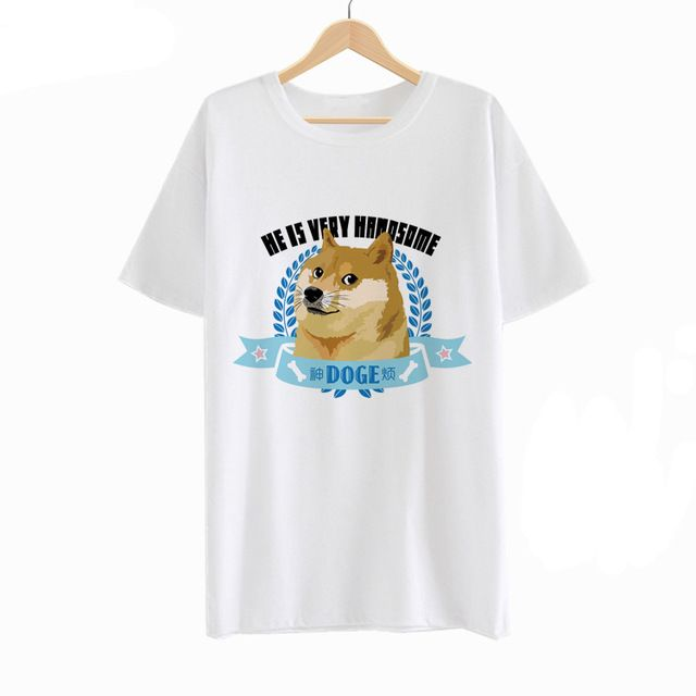 Check lastest price Doge T-shirt Summer Women Sneer Face T Shirt Fashion Men Cotton Tshirt Short Sleeve Top Tees just only $14.11 with free shipping worldwide  #tshirtsformen Plese click on picture to see our special price for you